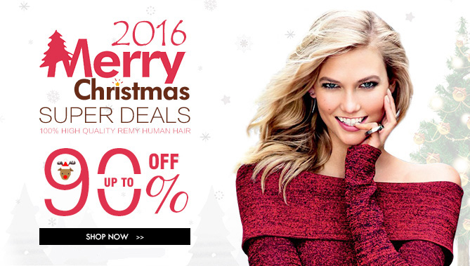 2016 christmas Hair Extensions Sale
