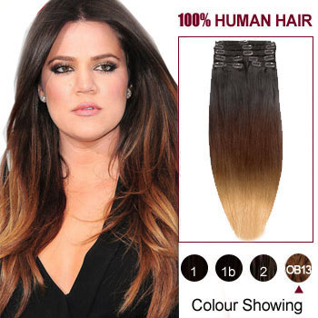 16 Quot Three Colors 1b And 30 And 27 Ombre Indian Remy