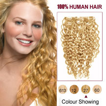 Curly clip in hair extensions in australias markethairextension 16 inches strawberry blonde 27 7pcs curly clip in indian remy hair extensions pmusecretfo Gallery