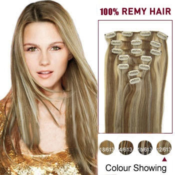16 Inches 12 613 7pcs Clip In Indian Remy Hair Extensions