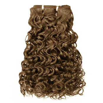 18 ash brown 8 curly indian remy hair wefts only