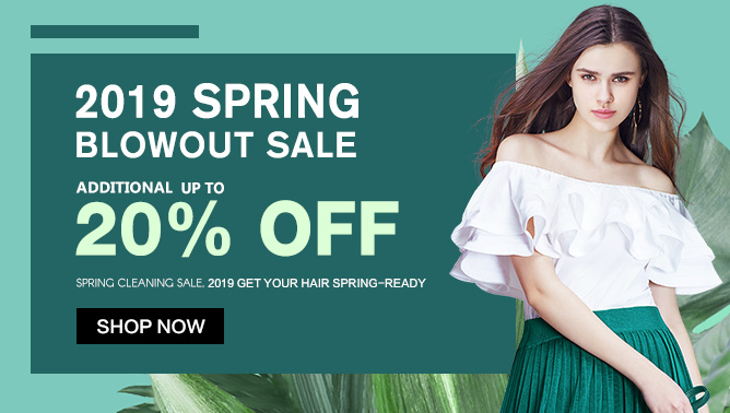 2019 Hair Extensions Spring Sale Event