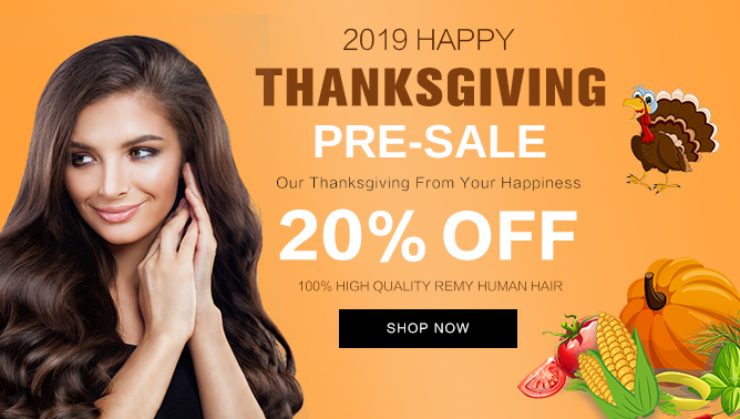 2019 Hair Extensions Thanksgiving Sale Event