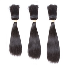 16 inches 18 inches 20 inches Wefts 1B# Natural Black Braid In Bundles Straight 3PCS
