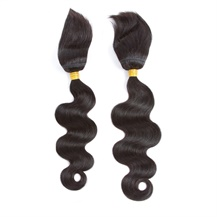 14 inches 16 inches Wefts 1B# Natural Black Braid In Bundles Body Wave 2PCS