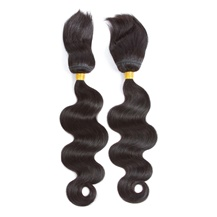 14 inches Weft 1B# Natural Black Braid In Bundles Body Wave 2PCS
