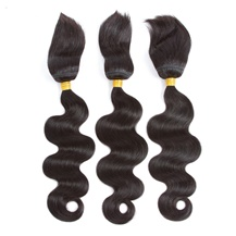 14 inches Weft 1B# Natural Black Braid In Bundles Body Wave 3PCS
