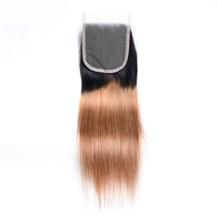 8 inches 4*4 Lace Closure (#1B/350) Natural Black/350 Ombre Human Hair