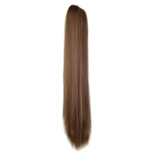 Iron Sheet Long Straight Ponytail Golden Brown(12#) 1 Piece