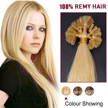 18 inches Ash Blonde (#24) 100S Nail Tip Human Hair Extensions