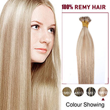 "24"" #18/613 50s Nano Ring Human Hair Extensions"
