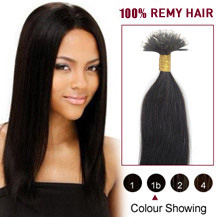 18 inches Natural Black(#1b) Nano Ring Hair Extensions