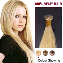 18 inches Ash Blonde(#24) Nano Ring Hair Extensions