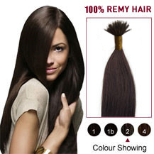"18"" Dark Brown(#2) Nano Ring Hair Extensions"