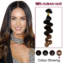 "20"" Three Colors #1b And #3 And #10 Wavy Ombre Indian Remy Clip In Hair Extensions"