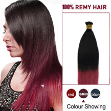 16 inches Ombre #1b/bug 50S Stick Tip Human Hair Extensions Straight