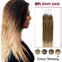 16 inches Ombre(#12/20) Micro Loop Human Hair Extensions