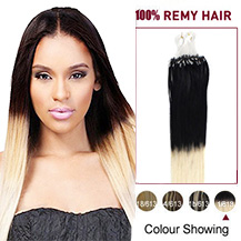 16 inches Ombre(#1/613) Micro Loop Human Hair Extensions