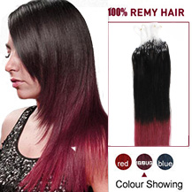 16 inches Ombre(#1B/Bug) Micro Loop Human Hair Extensions