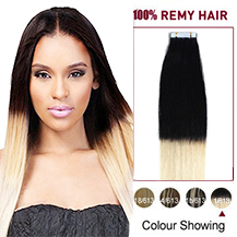 16 inches Ombre (#1/613) Tape In Human Hair Extensions