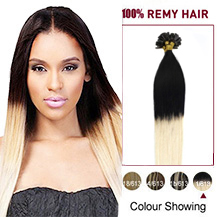 16 inches Ombre #1/613 50s Nail Tip Human Hair Extensions