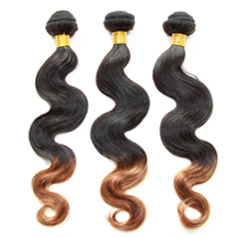 3 set bundle #1B/30 Ombre Body Wave Indian Remy Hair Wefts 20/22/24 Inches