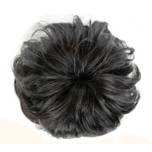 Bun Hair Piece Extension Synthetic Hairpiece Updo Black 1 Piece