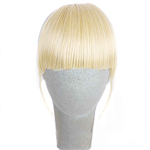 Human Hair Bang On The Temples White Blonde 1 Piece