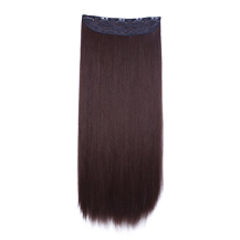 24 inches Light Brown(#10) One Piece Clip In Synthetic Hair Extensions