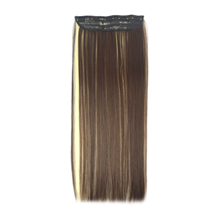 24 inches Brown Blonde(#4/613) One Piece Clip In Synthetic Hair Extensions