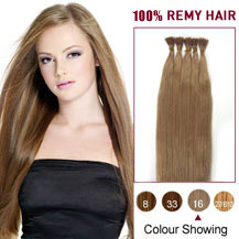 16 inches Golden Blonde (#16) 50S Stick Tip Human Hair Extensions