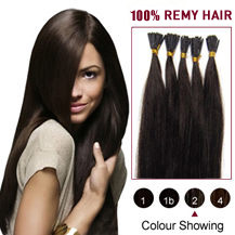 "22"" Dark Brown (#2) 100S Stick Tip Human Hair Extensions"