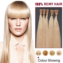 "16"" Bleach Blonde (#613) 100S Stick Tip Human Hair Extensions"