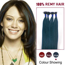 16 inches Blue 50S Stick Tip Human Hair Extensions