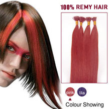 16 inches Pink 50S Stick Tip Human Hair Extensions