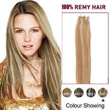18 inches #12/613 Tape In Human Hair Extensions