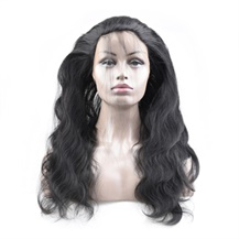 12 inches 360 Natural Black Body Wave Full lace Human closure wig