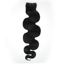 24 inches Jet Black (#1) Body Wave Indian Remy Hair Wefts