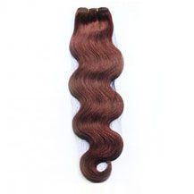 10 inches Dark Auburn (#33) Body Wave Indian Remy Hair Wefts