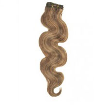 "10"" Brown/Blonde (#4/27) Body Wave Indian Remy Hair Wefts"