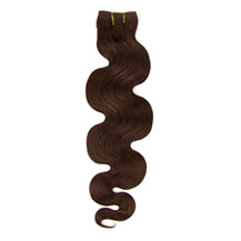 12 inches Medium Brown (#4) Body Wave Indian Remy Hair Wefts