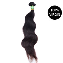 "28"" Natural Black (#1b) Body Wave Brazilian Virgin Hair Wefts"