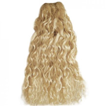 16 inches Ash Blonde (#24) Curly Indian Remy Hair Wefts