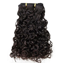 12 inches Dark Brown (#2) Curly Indian Remy Hair Wefts