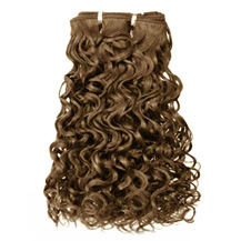 12 inches Ash Brown (#8) Curly Indian Remy Hair Wefts