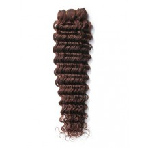10 inches Medium Brown (#4) Deep Wave Indian Remy Hair Wefts