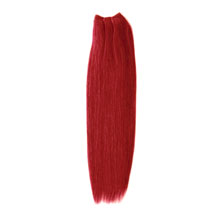 30 inches Red Straight Indian Remy Hair Wefts