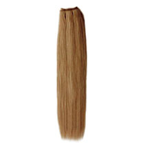 18 inches Golden Brown (#12) Straight Indian Remy Hair Wefts