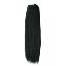 "20"" Jet Black (#1) Straight Indian Remy Hair Wefts"