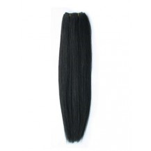 "30"" Natural Black (#1b) Straight Indian Remy Hair Wefts"